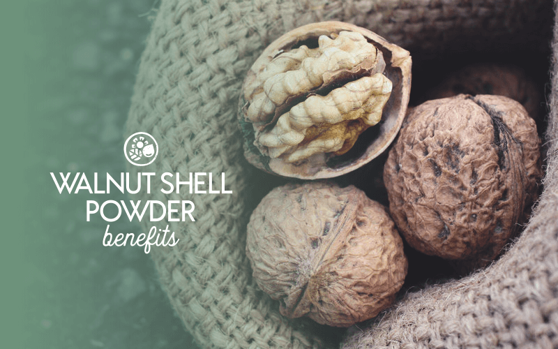 Skin benefits of walnut shell powder