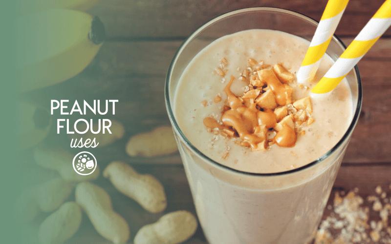 Uses for peanut flour